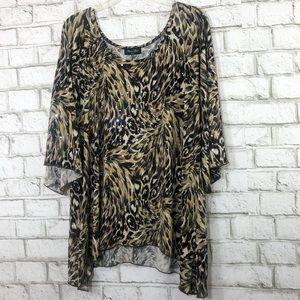 Embellished Cheetah Print Blouse
